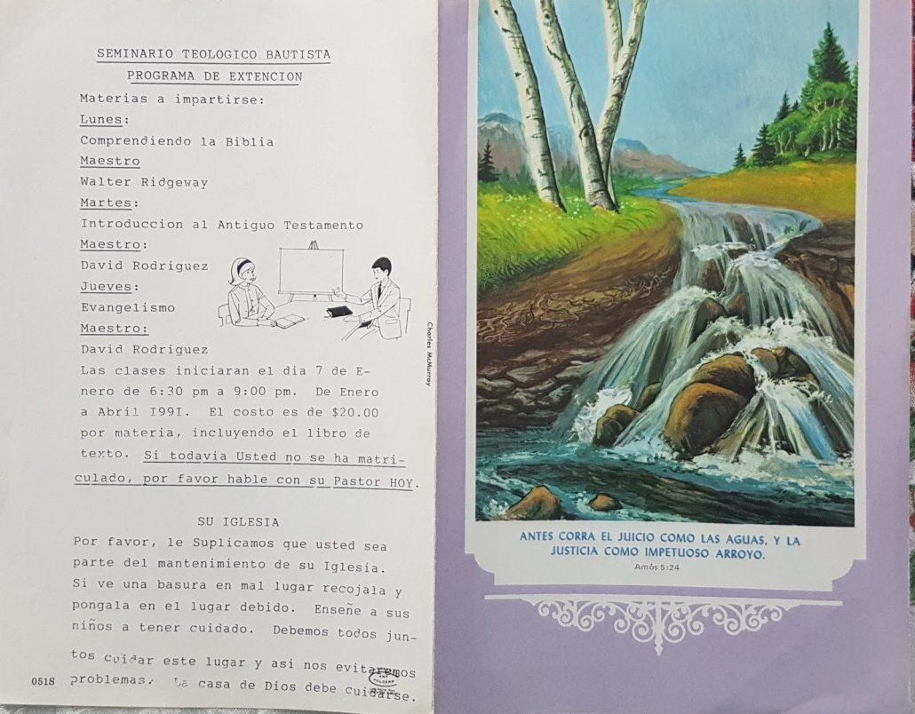 Boletín de comienzo del seminario - Timeline - Iglesia El Redentor