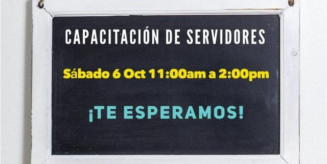 Capacitación de servidores - Iglesia El Redentor