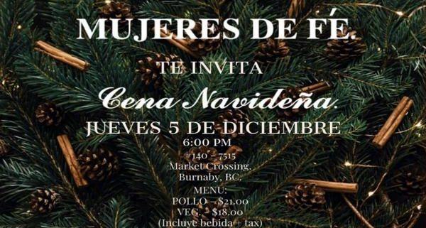 Cena de Navidad - Mujeres de Fe - Iglesia El Redentor