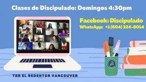 Discipulado facebook contact- Iglesia Cristiana