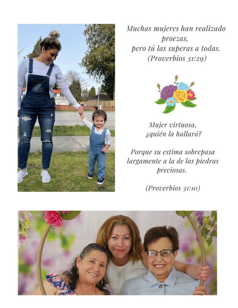 Feliz Mes de Las Madres - Noticias– Iglesia Cristiana - Iglesia Bautista TBB El Redentor