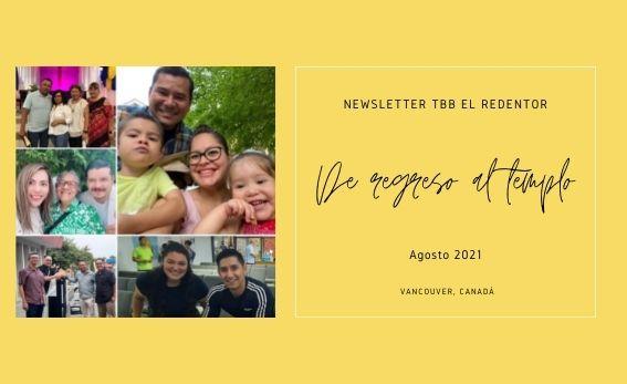 Agosto 2021 - Noticias– Iglesia Cristiana - Iglesia Bautista TBB El Redentor