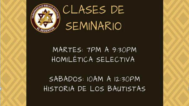 Clases de Seminario - Iglesia El Redentor